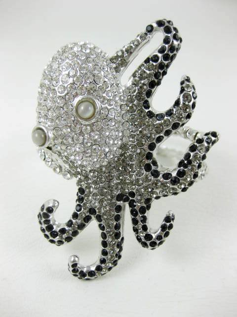 Whimsical Carlo Zini Italian Runway Octopus Bracelet