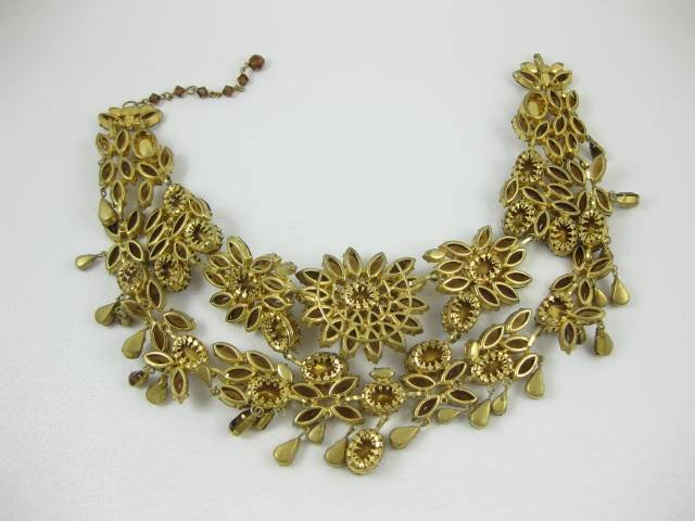 Breathtaking Austrian Topaz Runway Bib Necklace