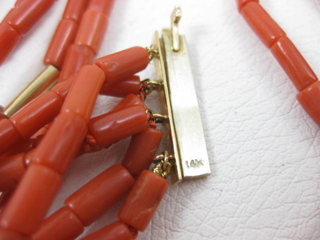 Elegant Van Cleef & Arpels Coral 14K Necklace