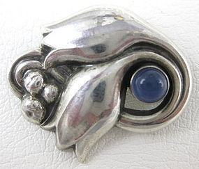 Lovely Georg Jensen Sterling Moonstone Pin 100