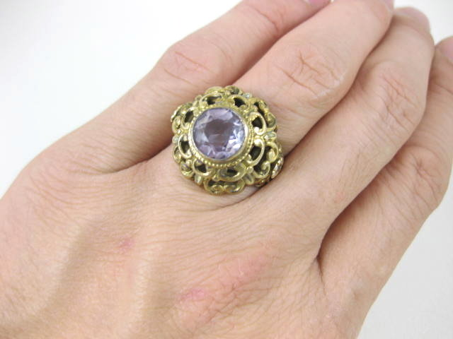 Gorgeous Sterling Austro Hungarian Amethyst Ring