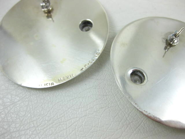 Sleek Alicia Mexican Silver Moderne Earrings