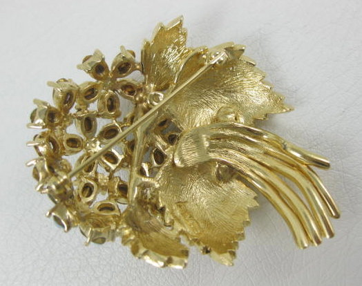 Lovely Ciner Rhinestone Flower Bouquet Pin