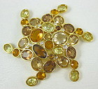 Gorgeous Swarovski Golden Rhinestone Pin