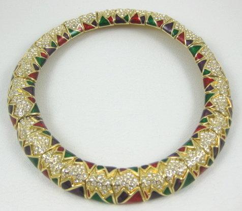 Beautiful Swarovski Enamel & Rhinestone Necklace