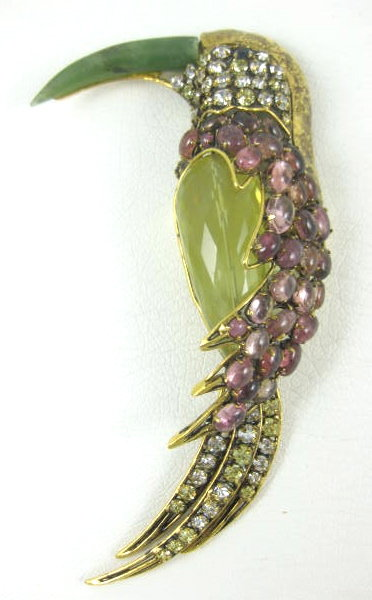 Gorgeous Iradj Moini for Oscar de la Renta Bird Pin