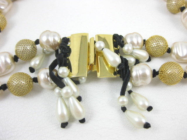Unusual Erickson Beamon Dangling Pearl Bib Necklace