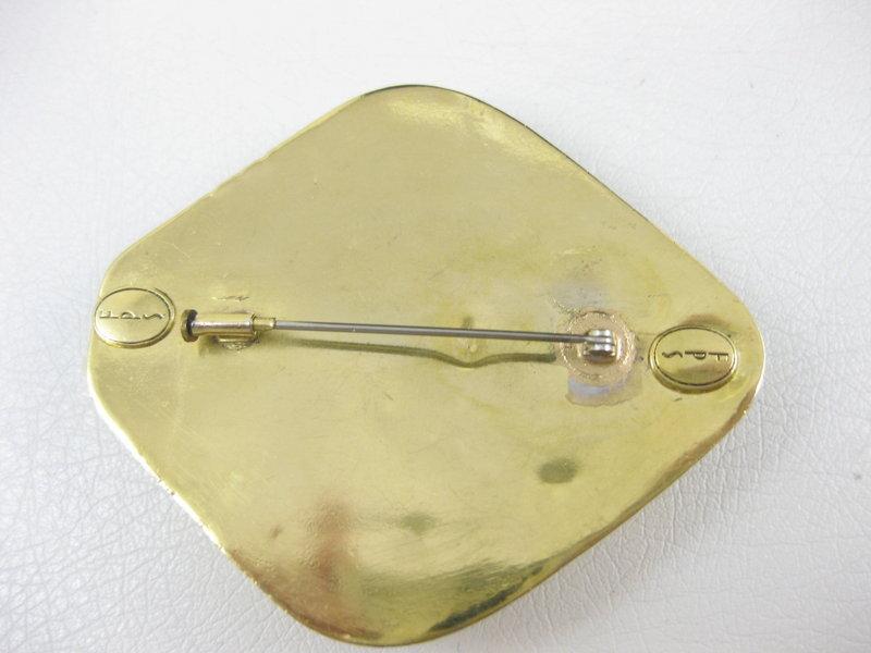 Frances Patiky Stein Gripoix Glass Pin