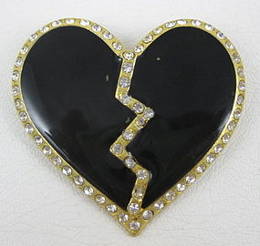 Yves Saint Laurent Rive Gauche Heart Pin