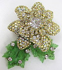 Dimensional Lawrence Vrba Rhinestone Flower Pin