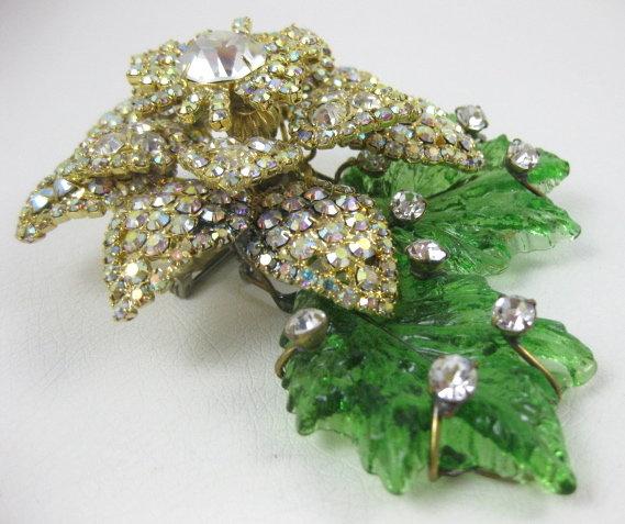 Dimensional Lawrence Vrba Rhinestone Flower Pin