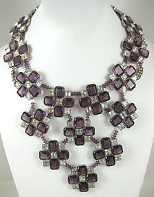 William Delillo for Anna Moffo Sarnoff Bib Necklace