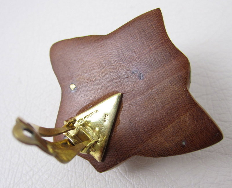 Patricia Von Musulin Lignum Vitae Wood Earrings