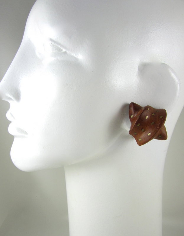 Patricia Von Musulin Lignum Vitae Wood Earrings
