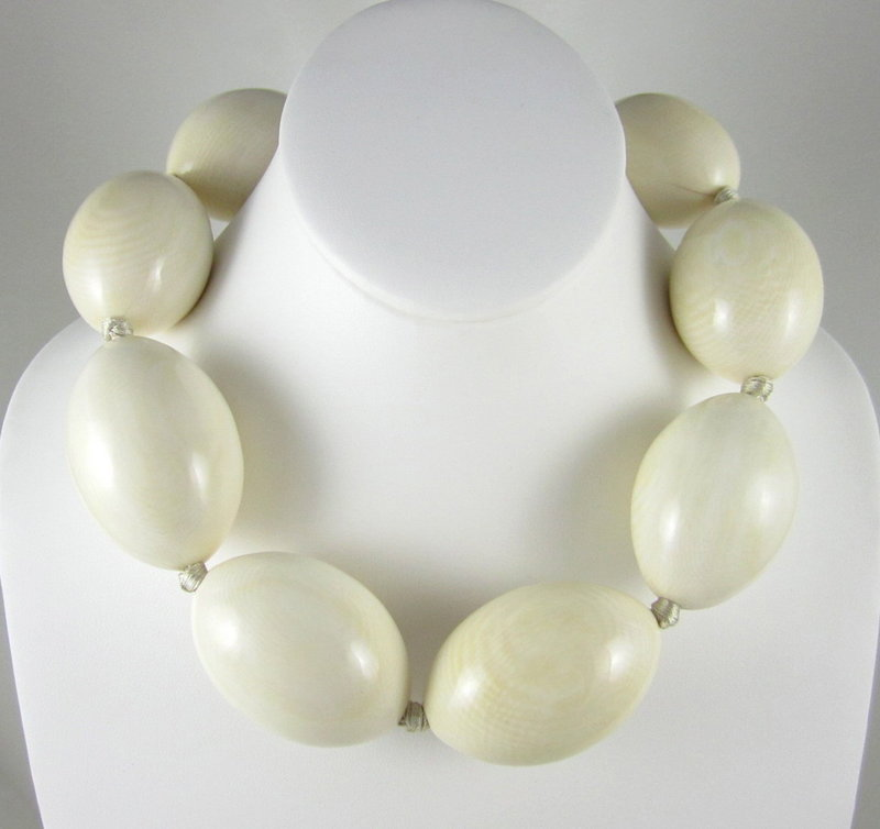 Important Patricia Von Musulin Ivory Egg Necklace