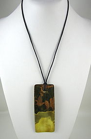 Classic Robert Lee Morris Brass Pendant Necklace