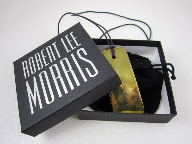 Classic Robert Lee Morris Brass Pendant Necklace