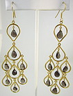 Gorgeous Sterling Gold Vermeil Topaz Dangling Earrings