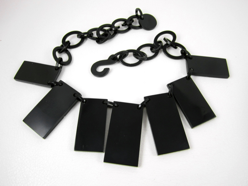 High-Spirited French Resin Domino Necklace