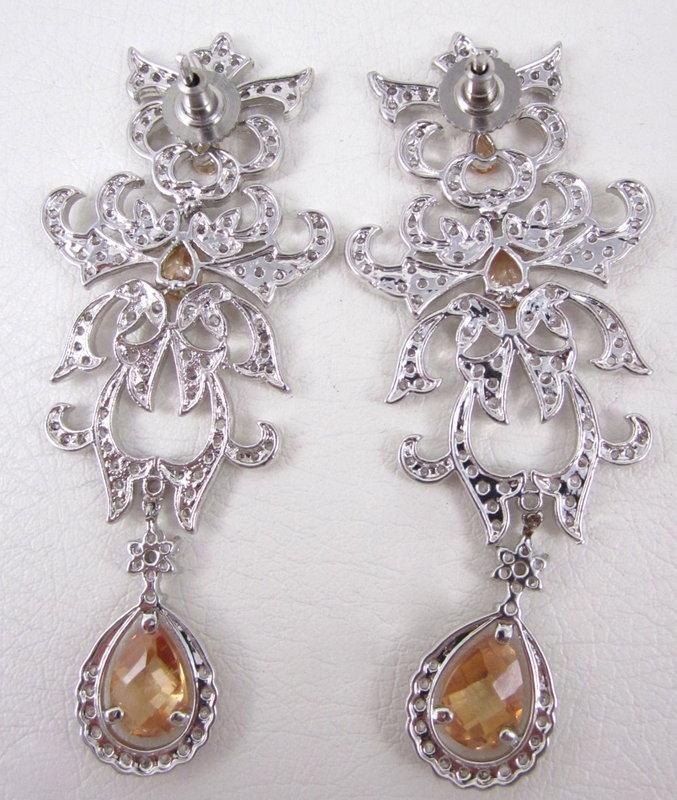 Gorgeous Pave Crystal Dowry Chandelier Earrings