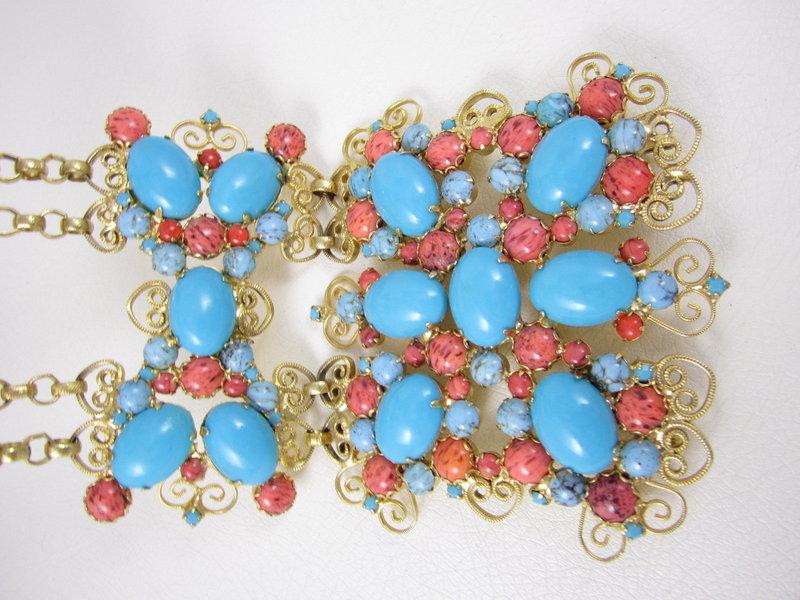 Amazing Kenneth Jay Lane Turquoise Jeweled Belt