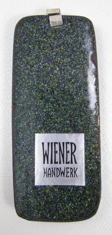 Wiener Handwerk German Enamel Secessionist Pendant
