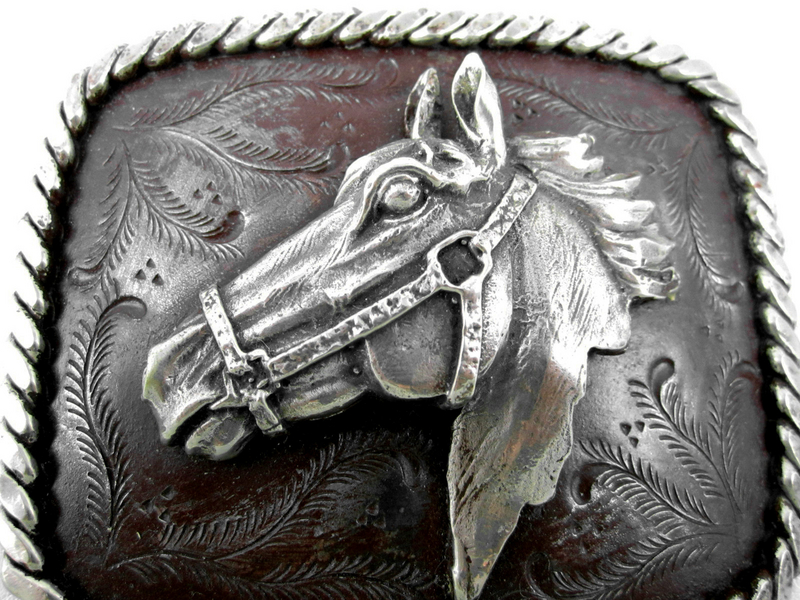 Classic Felipe Barbosa Horse Belt Buckle