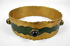 Green Felipe Barbosa Gold Vermeil Bangle Bracelet