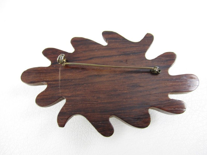 Wonderful Wood & Bakelite Acorn Pin