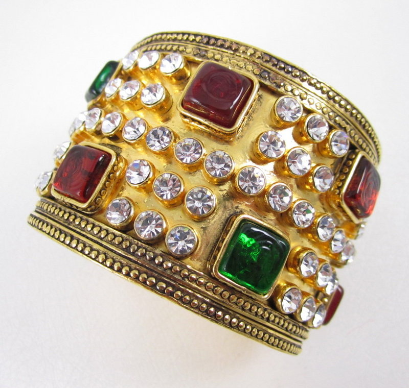Outstanding Chanel Maison Gripoix Glass Cuff Bracelet