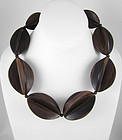 "Bewitching Viktoria Hayman ""Eclipse"" Wood Necklace"
