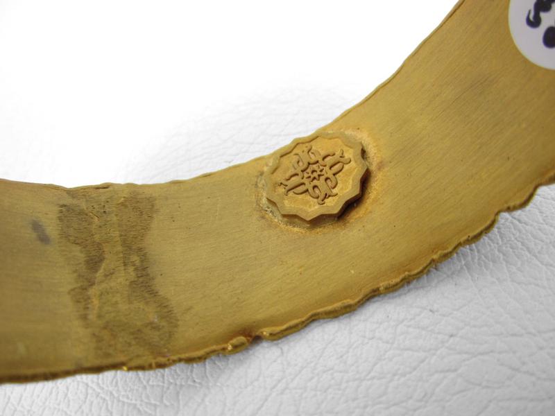 Brown Felipe Barbosa Gold Vermeil Bangle Bracelet