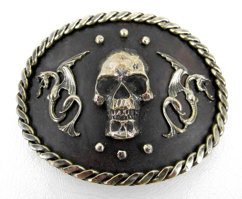 Majestic Felipe Barbosa Skull & Dragon Belt Buckle