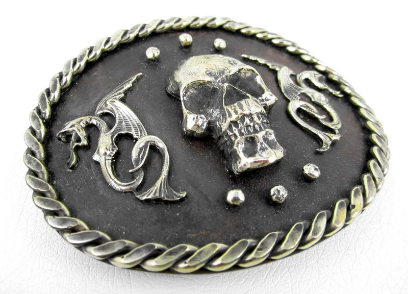 Majestic Felipe Barbosa Skull & Dragon Belt Buckle