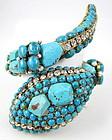 Amazing C&D Tuquoise Snake Wrap Bracelet