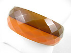 Gorgeous Faceted Two-Tone Bakelite Bracelet