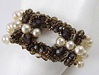 Coppola E Toppo Pearl and Crystal Bracelet