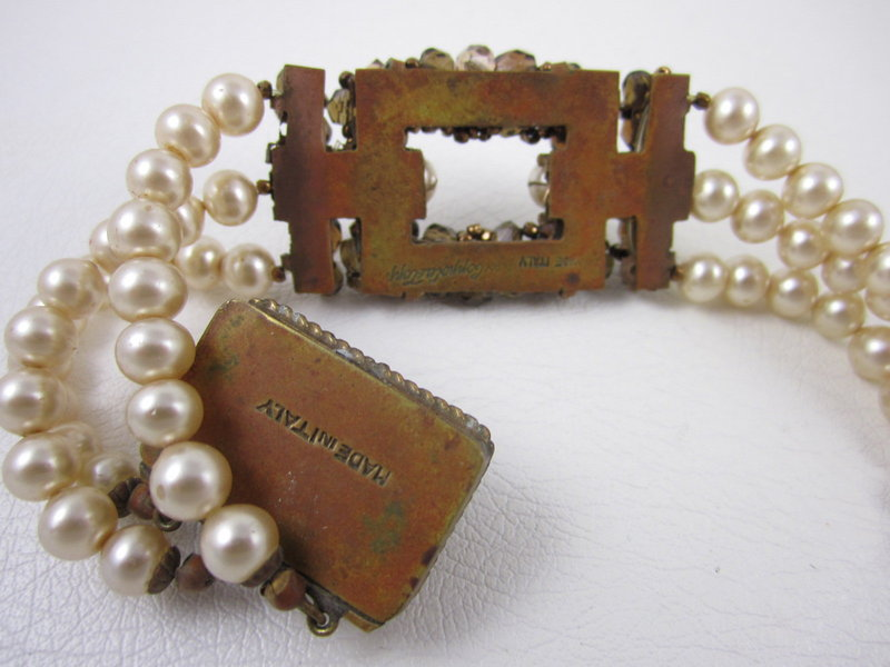 Coppola E Toppo Pearl and Crystal Bracelet