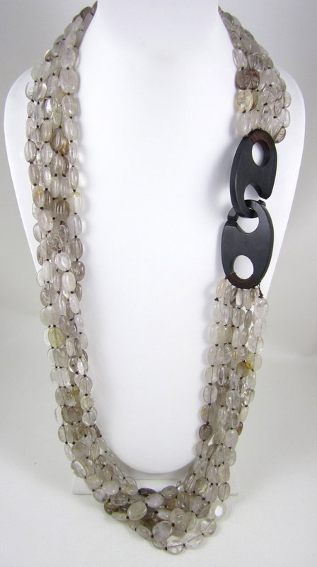 Patricia Von Musulin Rutilated Quartz Ebony Necklace