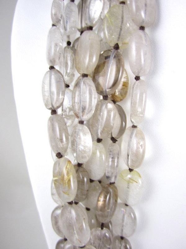 Patricia Von Musulin Rutilated Quartz Ebony Necklace
