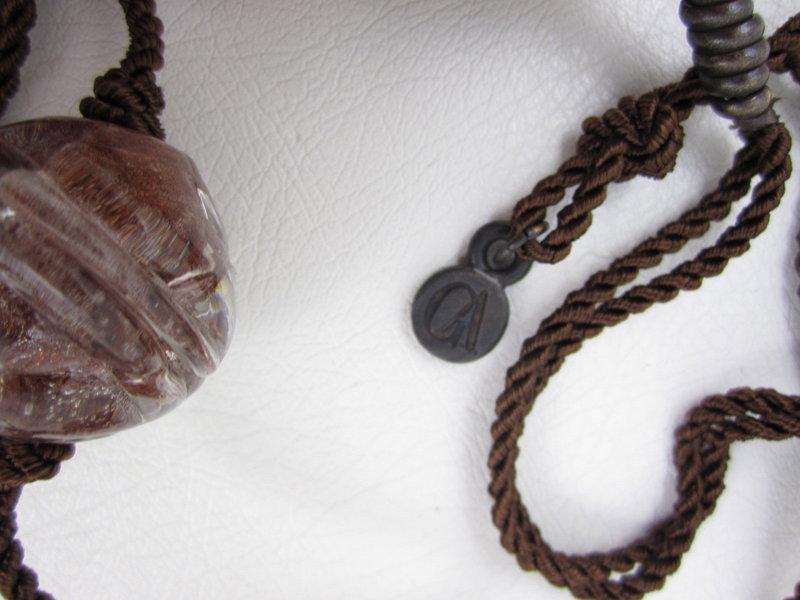 Chic Giorgio Armani Collezioni Resin Bead Necklace