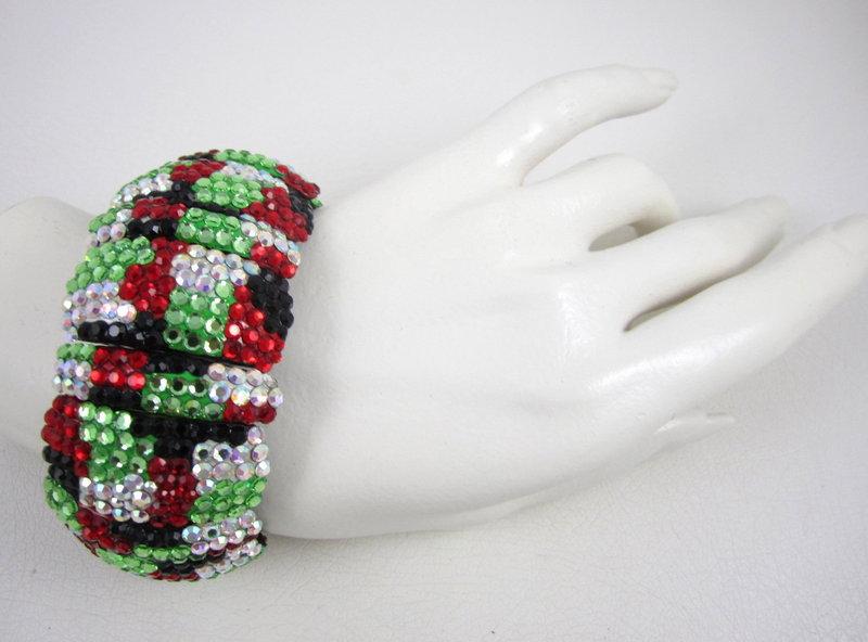 RARE Richard Kerr Rhinestone Bracelet and Earrings