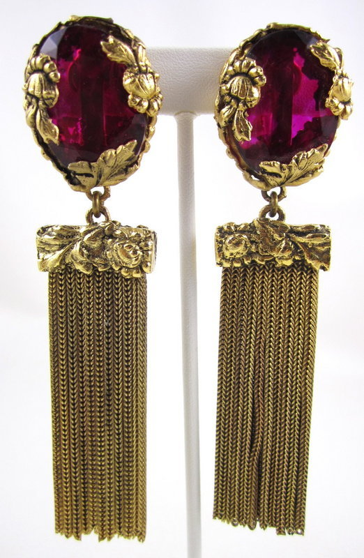 Stunning Robert Goossens Yves Saint Laurent Earrings