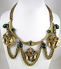 Fabulous Joseff of Hollywood Elephant Bib Necklace