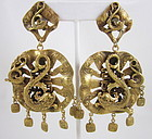 Gorgeous Joseff of Hollywood Chinese Dolphin Earrings