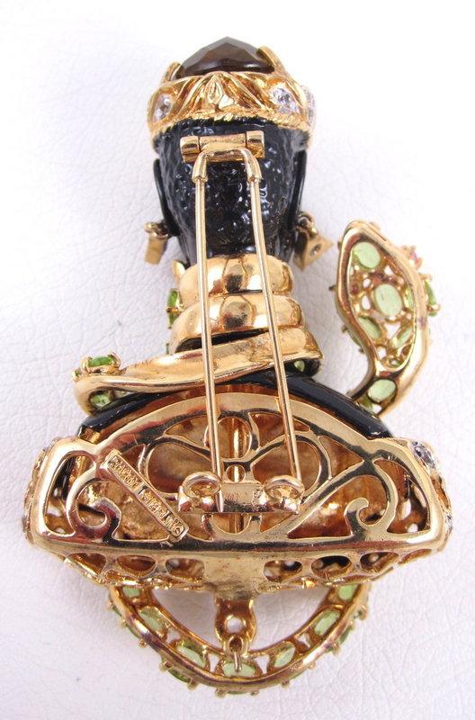 Stunning Jarin Kasi Blackamoor Serpent Pin