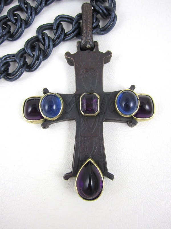 Amazing Diane Love for Trifari Byzantine Cross Necklace
