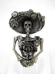 Whimsical Barbosa Skeleton Katrina Ring