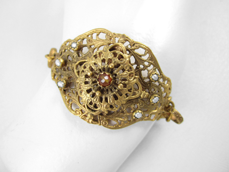 Gorgeous Barbosa Vintage Czech-Inspired Bracelet