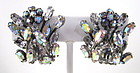 Beautiful Schreiner New York Rhinestone Earrings